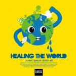 Cartoon Earth Environmental Protection 2019 Vector