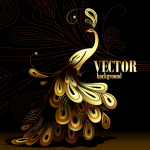 Cartoon Peacock Illustration 2019 Vector