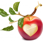 Heart-shaped apple 2019 Vector