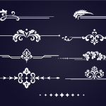 European pattern border design 2019 Vector