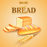 Whole wheat bread advertising 2019 Vector
