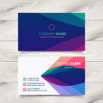 Business card design 2019 Vector