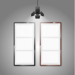 Spotlights and blank billboards 2019 Vector