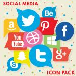 Social media logo 2019 Vector