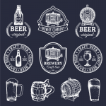 Hand-drawn Beer Series Diagrams 2019 Vector