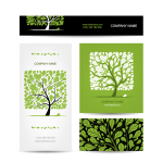 Design of Business Cards for Trees 2019 Vector