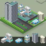 Modern residential building 2019 Vector