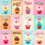 Poster Design for Retro Dessert 2019 Vector