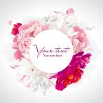 Blooming Peony Flowers 2019 Vector