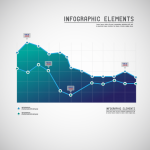 Data statistics chart 2019 Vector